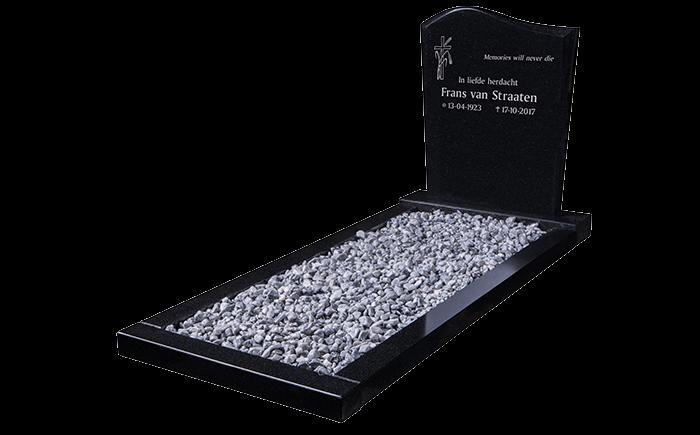 12-Staande-grafsteen-omranding-Zwart-Graniet